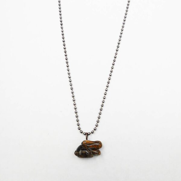 Cruelty Free Bunny Necklace from the Animal Rights Collection for Shop Vegan Style