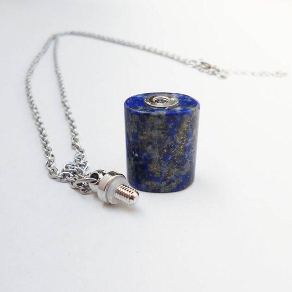 Lapis Lazuli Mini Flask Pendant